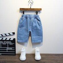 Toddler Boys Slant Pocket Denim Shorts