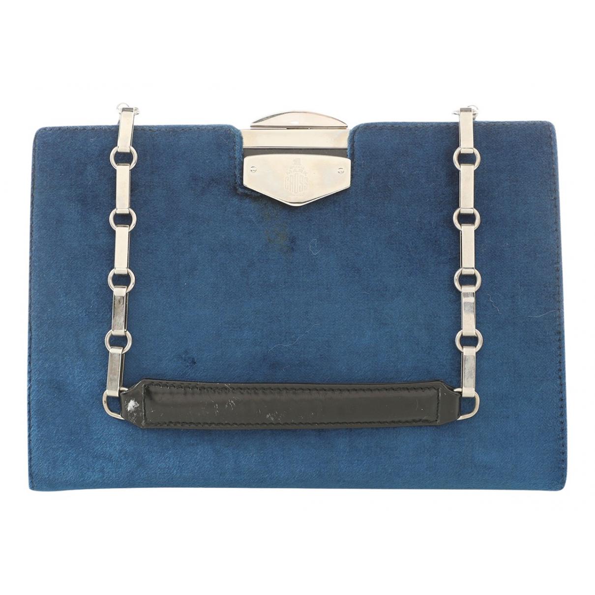 Mark Cross \N Navy Suede Clutch bag for Women \N