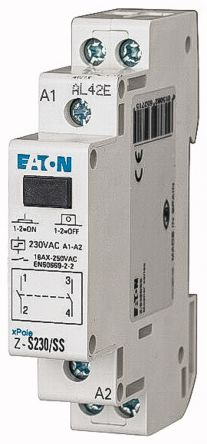 Eaton 2P Impulse Relay With NO Contacts, 16 A, 230 V ac Coil