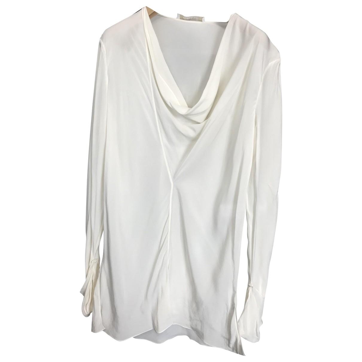 Chloe - Top   pour femme en soie - blanc