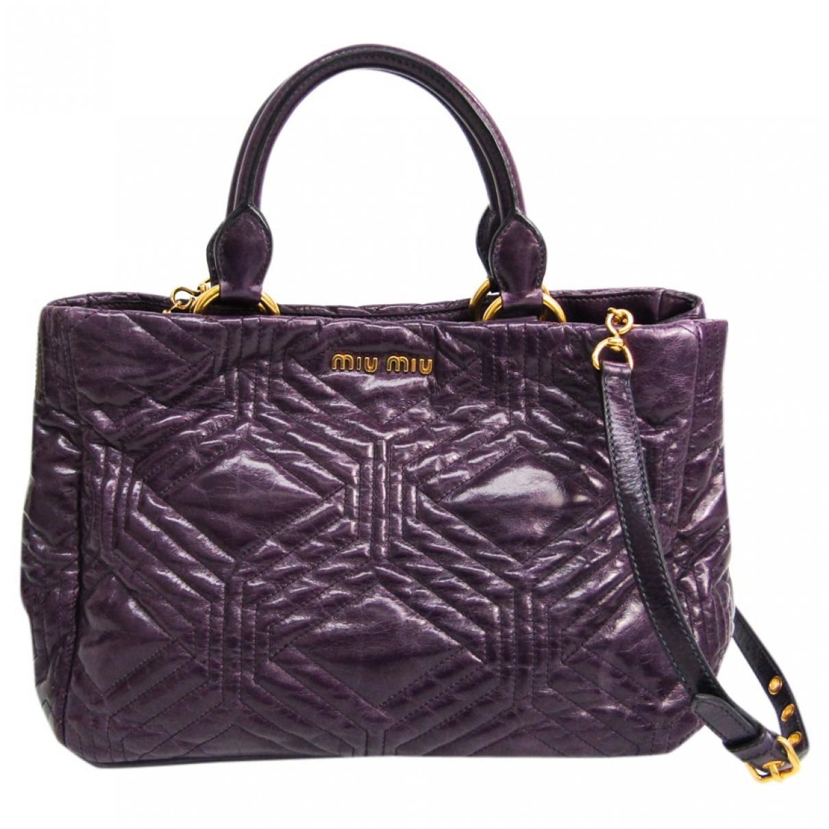 Miu Miu N Purple Leather handbag for Women N