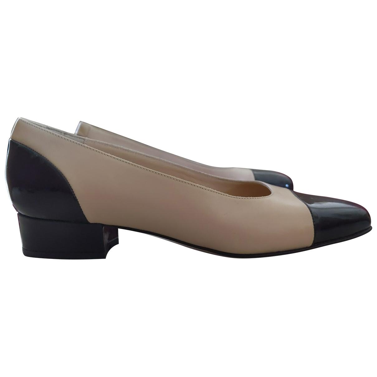 Bruno Magli \N Beige Leather Heels for Women 35.5 EU