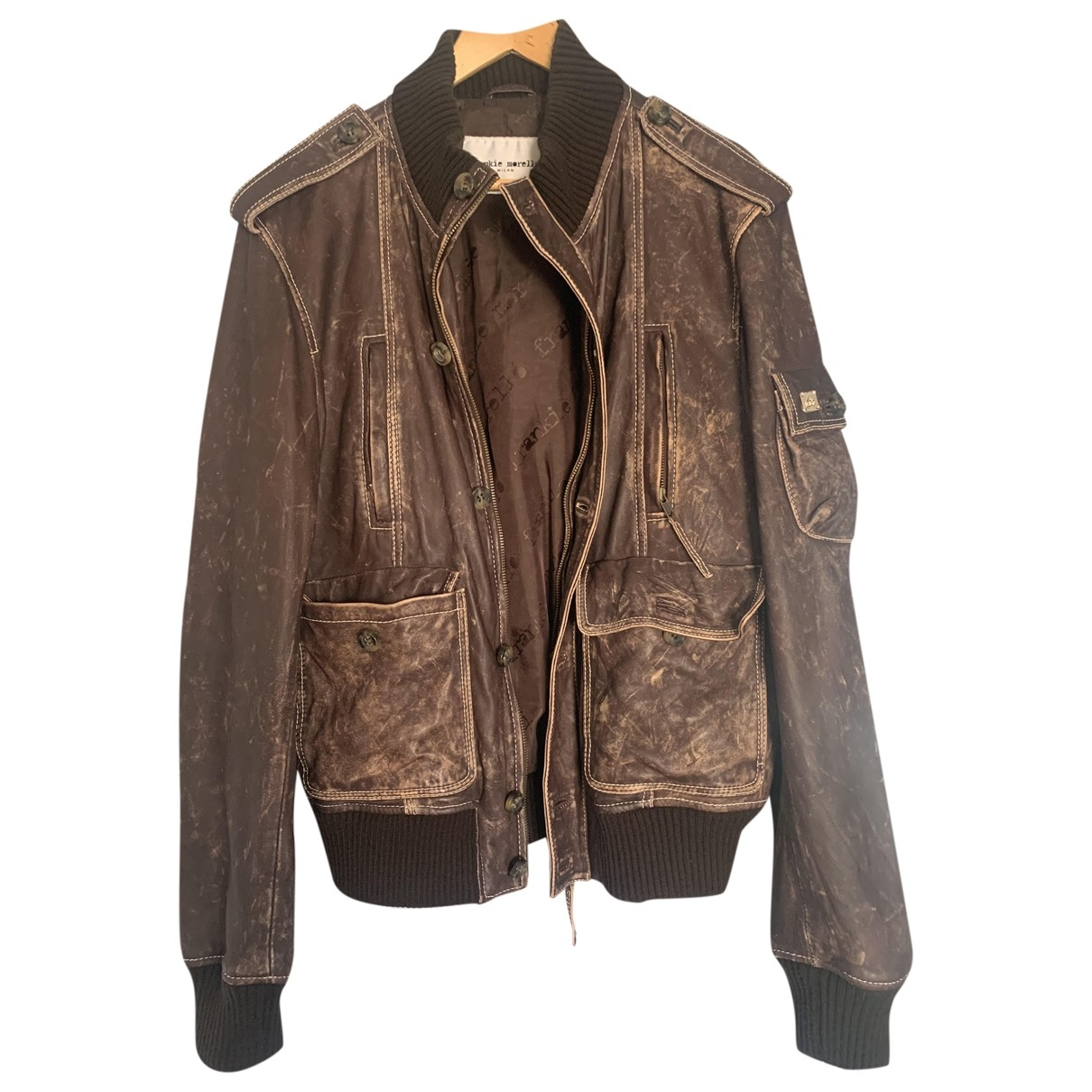 Non Signé / Unsigned \N Brown Leather jacket  for Men 50 IT