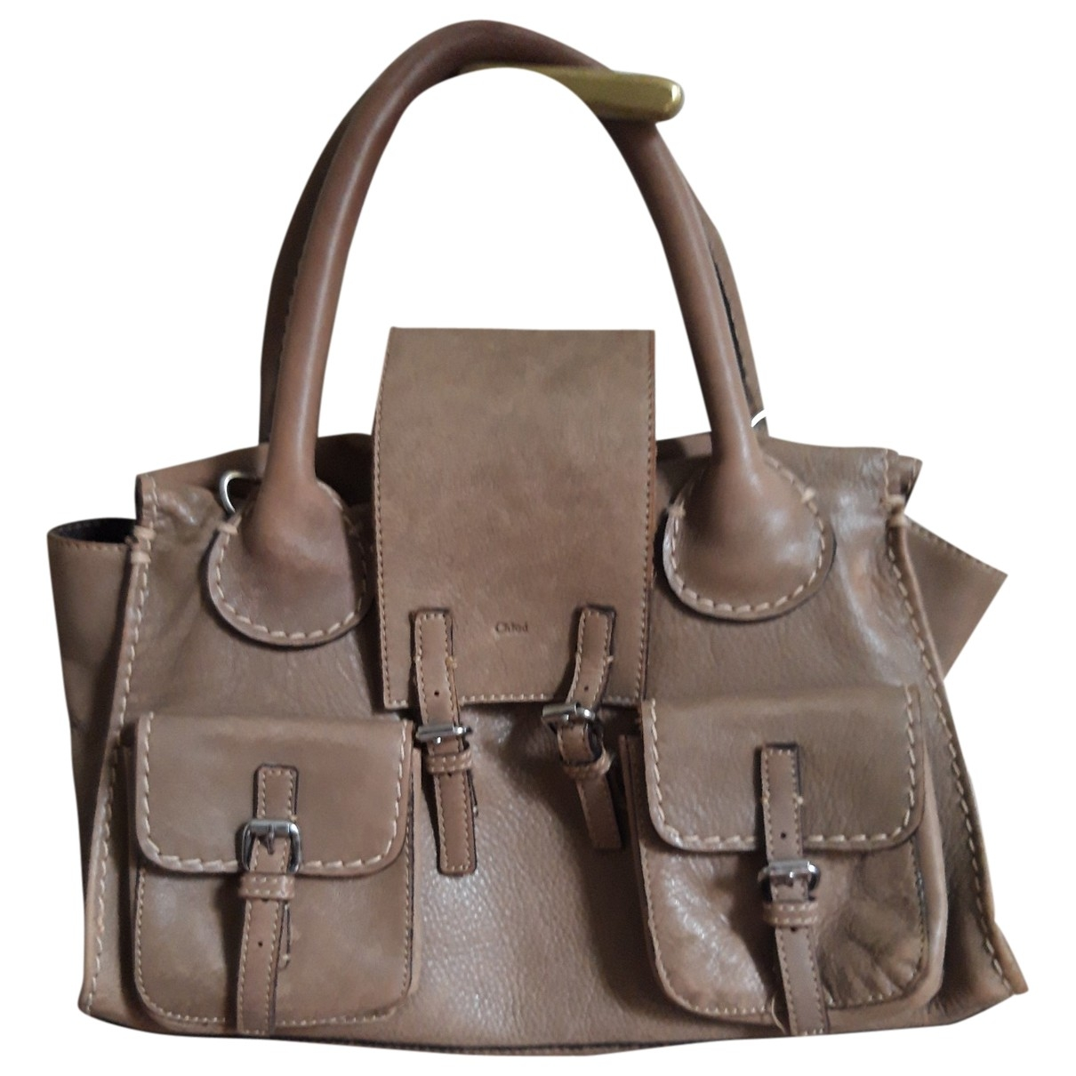 Chloé Edith Beige Leather handbag for Women \N