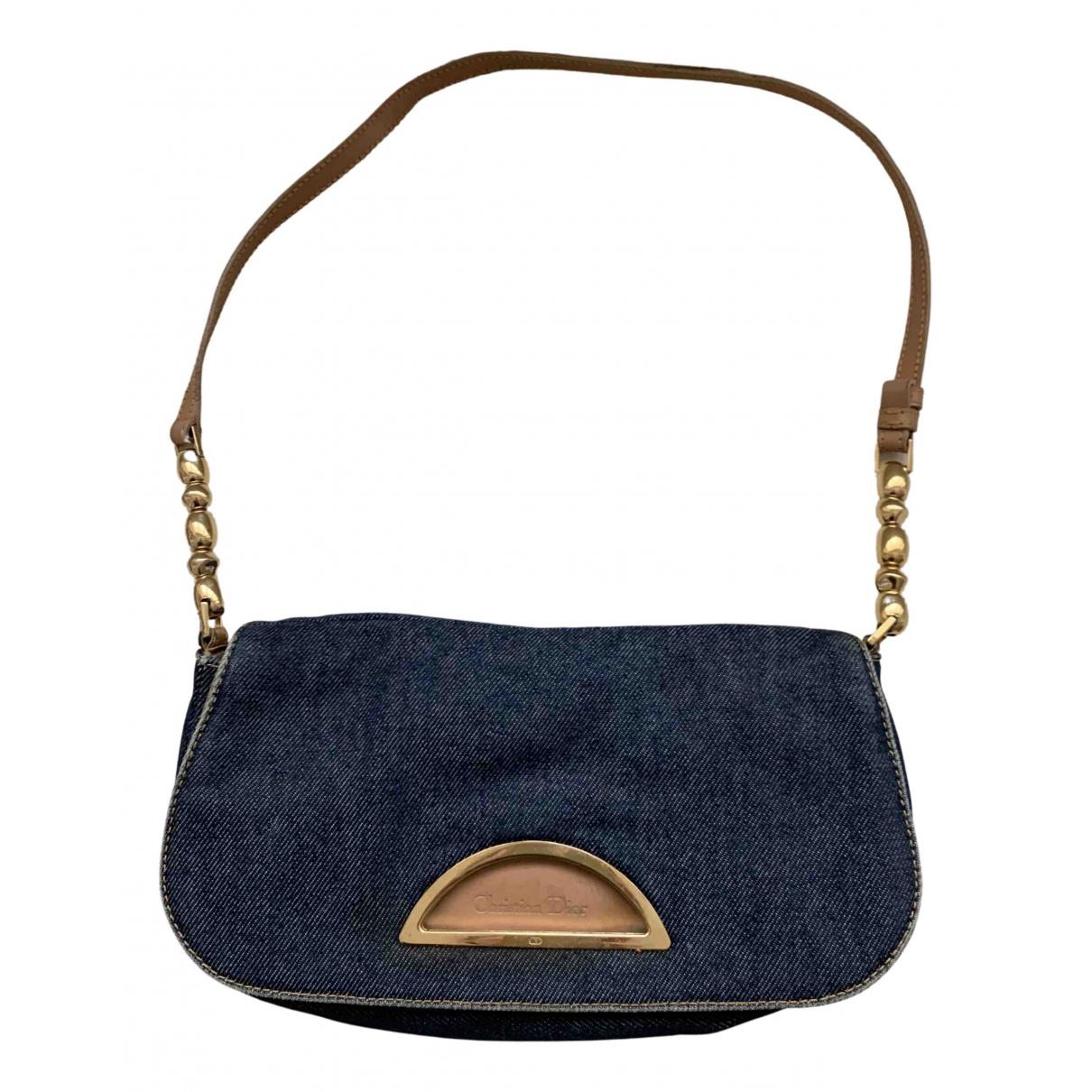 Dior Malice Handtasche in  Blau Leinen