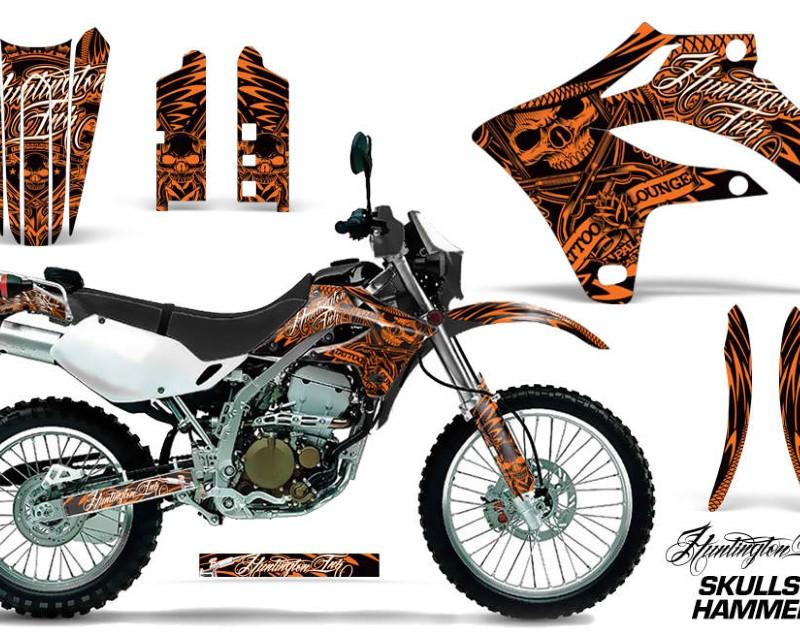AMR Racing Dirt Bike Graphics Kit MX Decal Wrap For Kawasaki KLX250S 2004-2007áHISH ORANGE