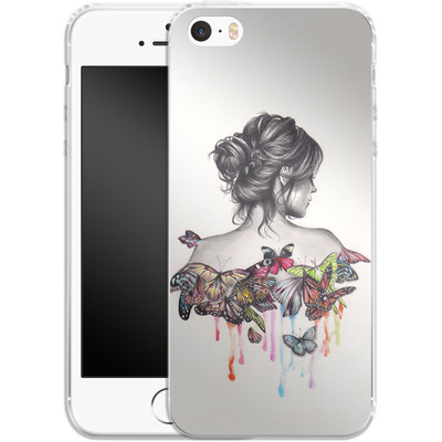 Apple iPhone SE Silikon Handyhuelle - Butterfly Effect von Kate Powell