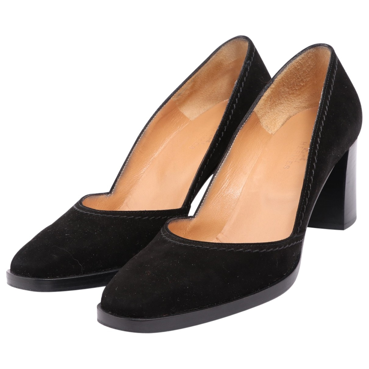 Hermes - Escarpins   pour femme en cuir - noir