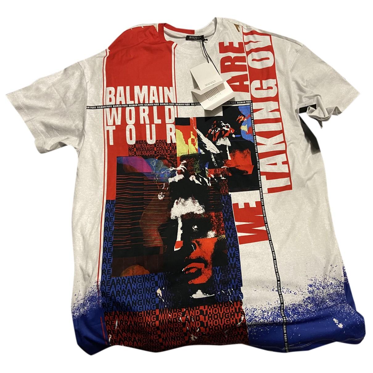 Balmain \N Kleid in  Bunt Baumwolle