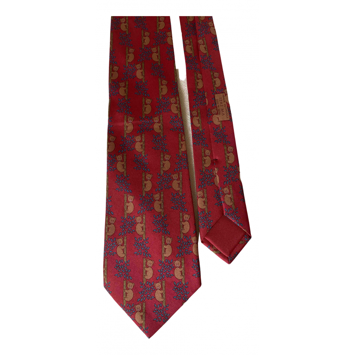 Hermès N Red Silk Ties for Men N