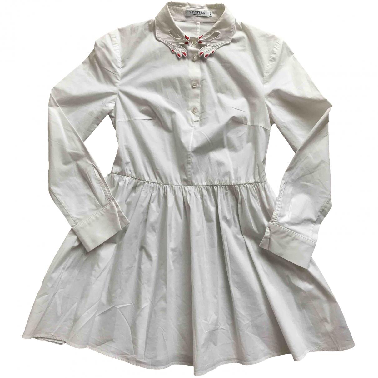 Vivetta \N Kleid in  Weiss Baumwolle