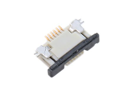 Molex Easy-On 52745 Series 0.5mm Pitch 6 Way Right Angle SMT Female FPC Connector, ZIF Top Contact (5)