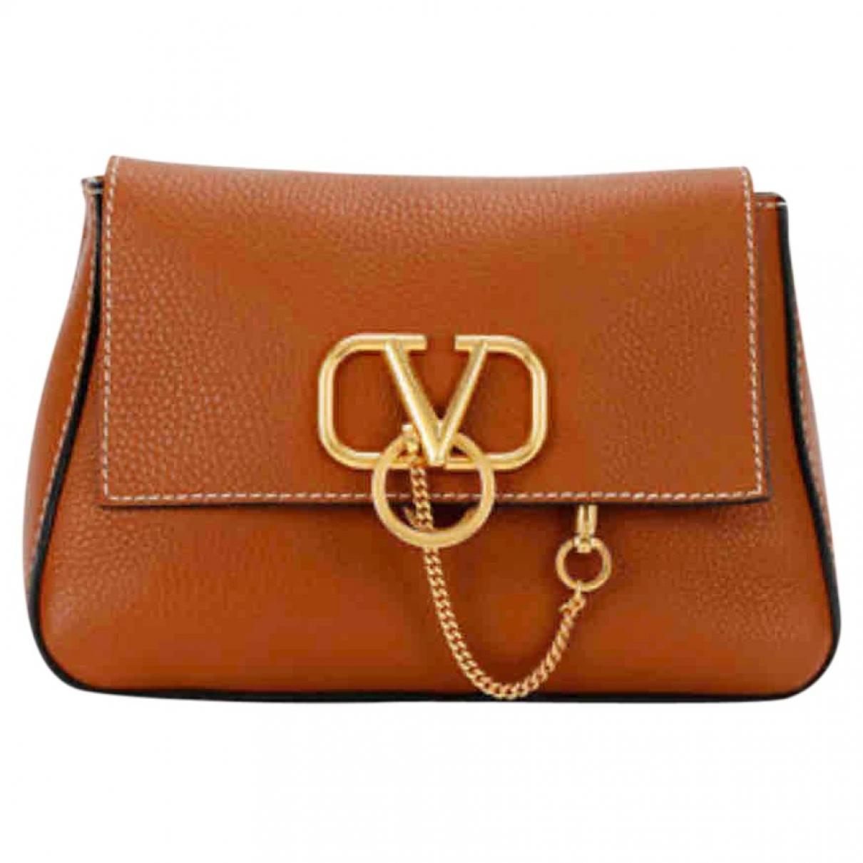 Valentino Garavani Vsling Brown Leather handbag for Women \N