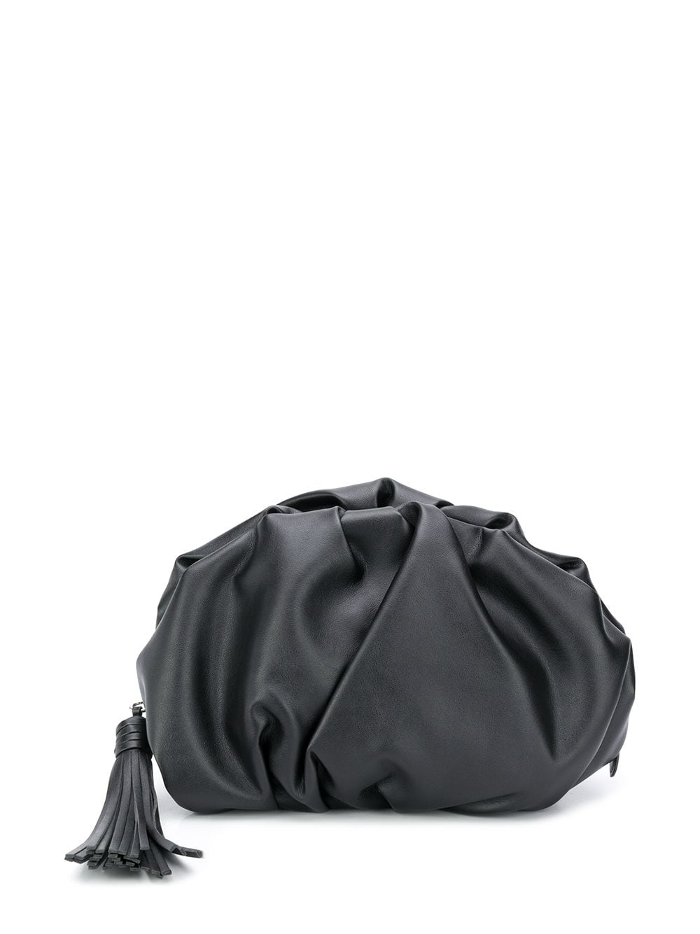 Ruched Leather Clutch