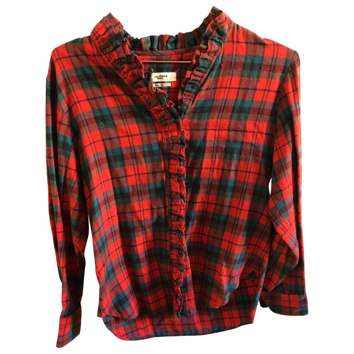 Isabel Marant Etoile - Top   pour femme en coton - rouge