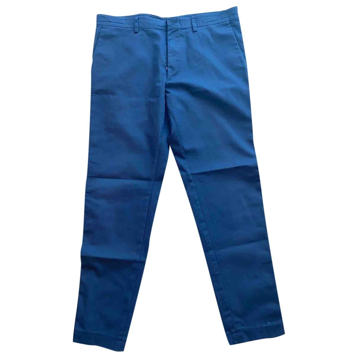Valentino Garavani \N Blue Cotton Trousers for Men 50 IT
