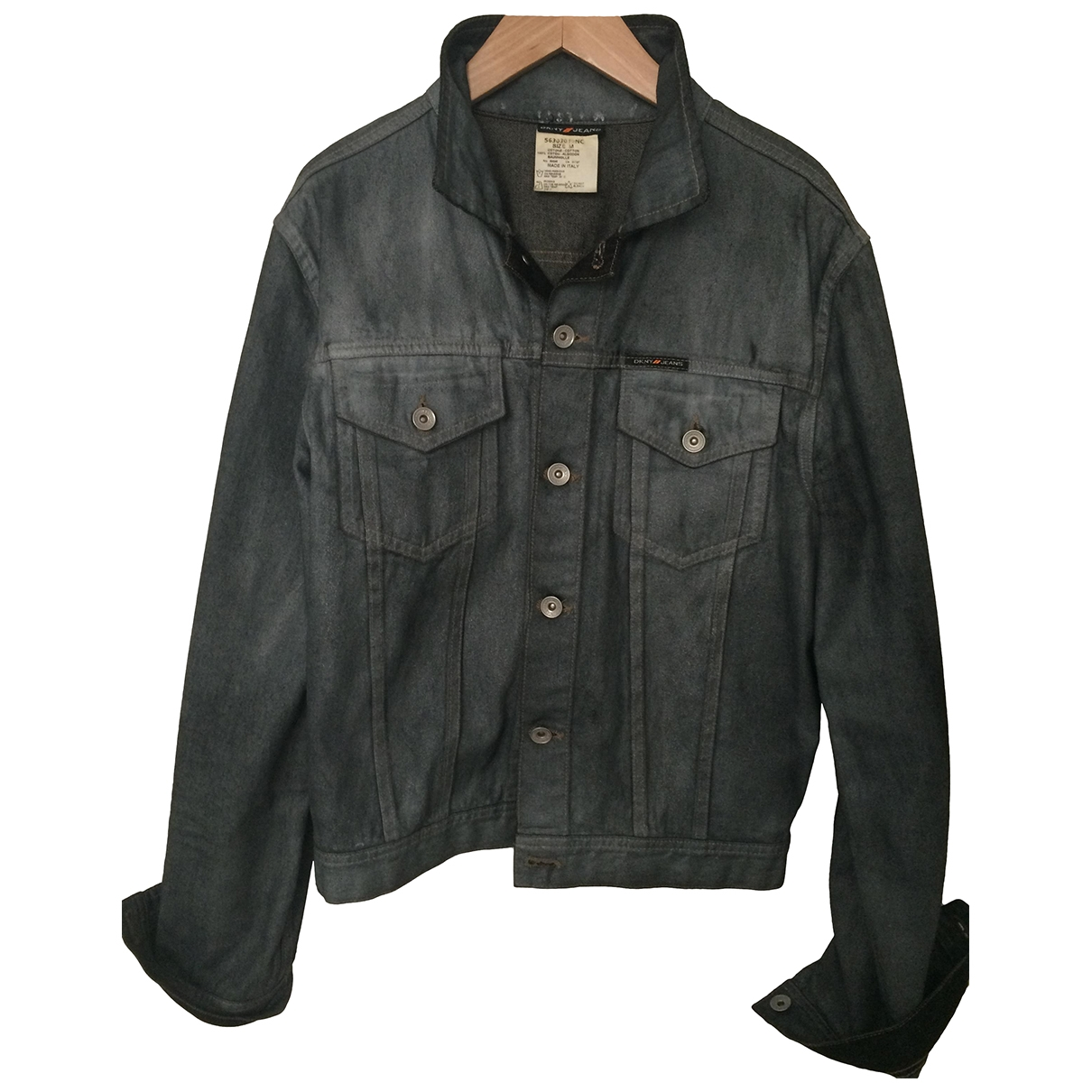 Donna Karan \N Silver Denim - Jeans jacket  for Men M International