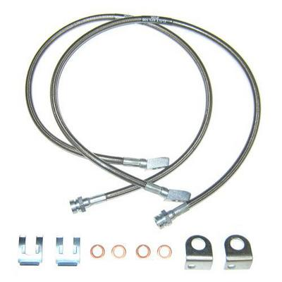 Off Road Unlimited 28 Steel Braided Front Brake Lines - 6-28F