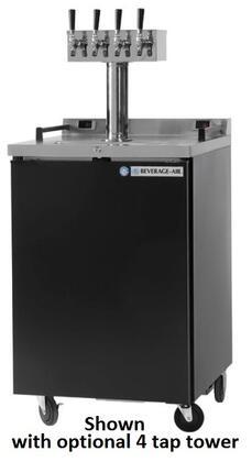 DZ24-1-B Dual-Zone Direct Draw Beer Dispenser with Self-closing Door 24