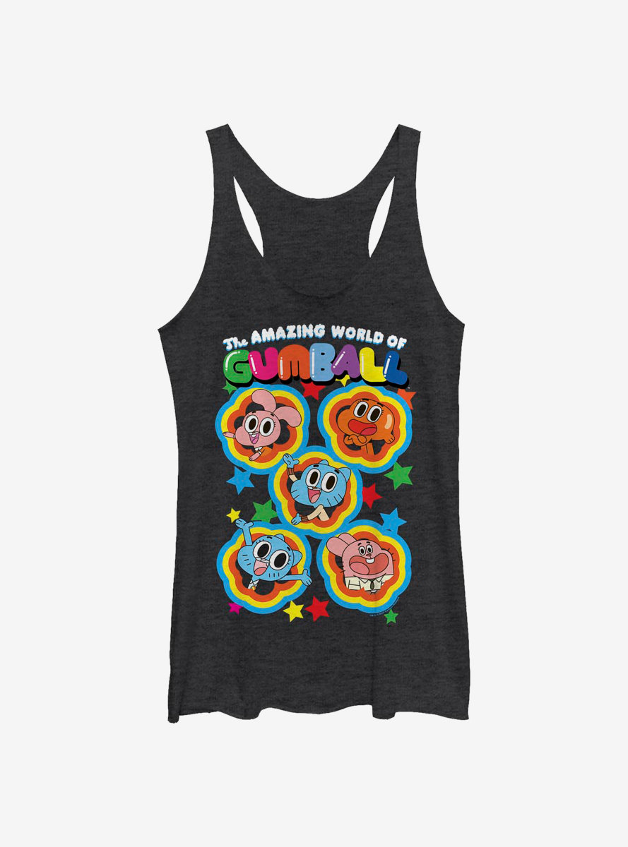 The Amazing World Of Gumball Five Stars Womens Tank Top