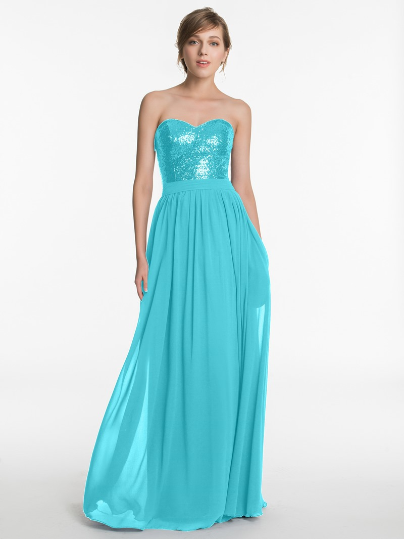 Bridesmaid Dress Sequins Sweetheart A Line