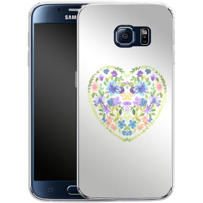 Samsung Galaxy S6 Silikon Handyhuelle - Love Folk Olive Green von Amy Sia