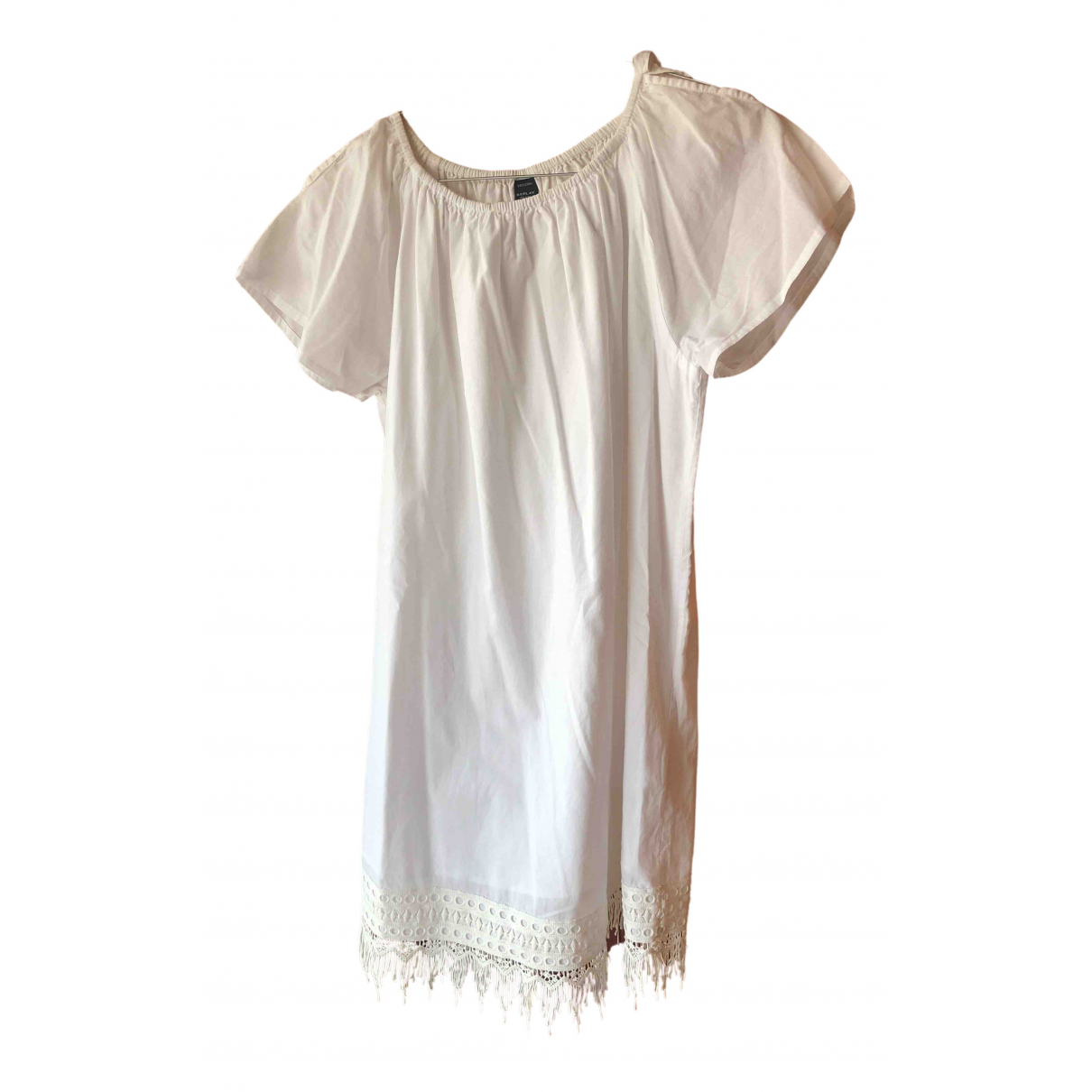 Replay N White Cotton dress for Kids 12 years - XS UK