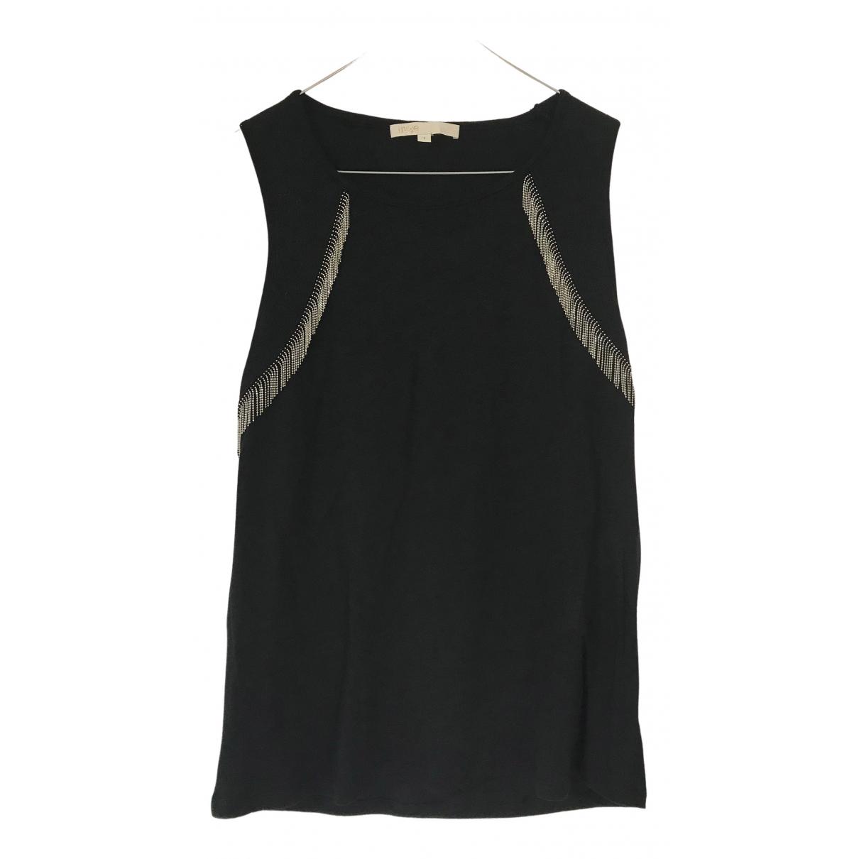 Maje - Top   pour femme en lin - noir