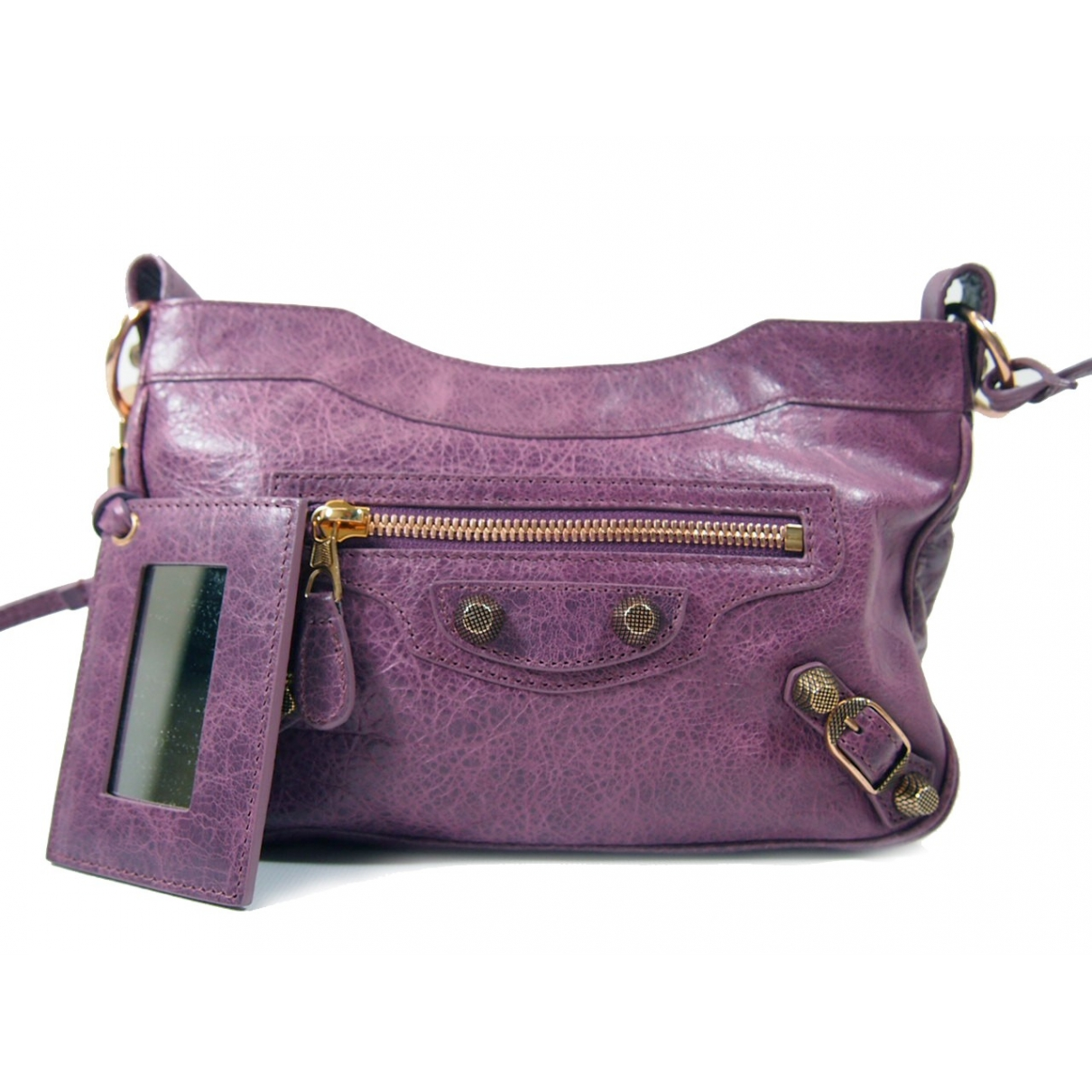 Balenciaga - Sac a main   pour femme en cuir - violet