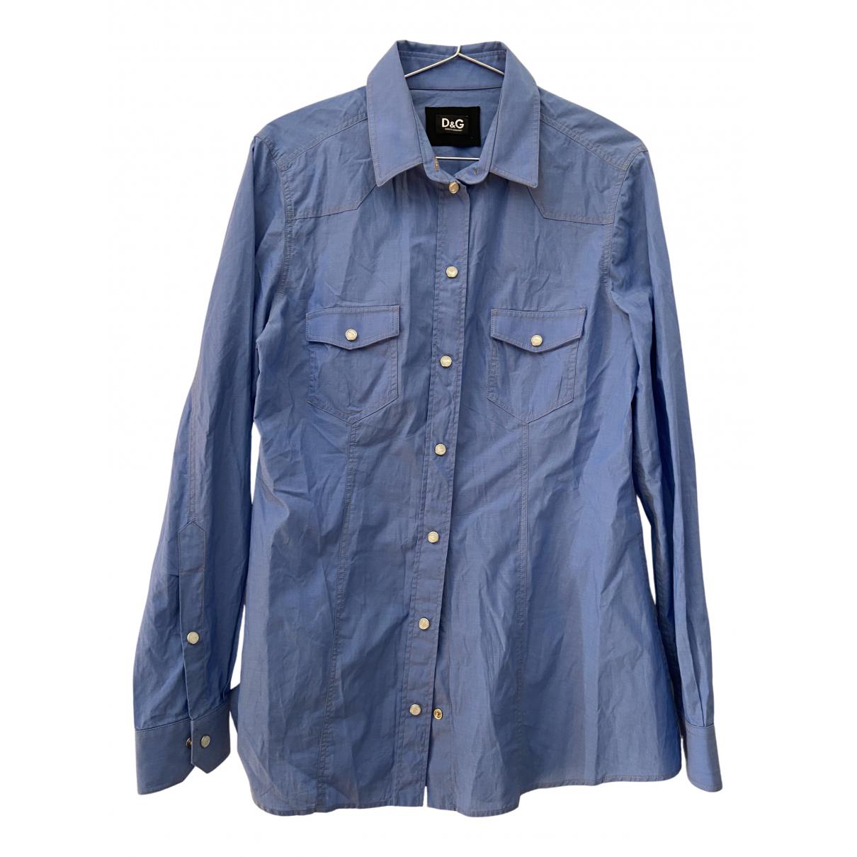 D&g N Turquoise Cotton Shirts for Men M International
