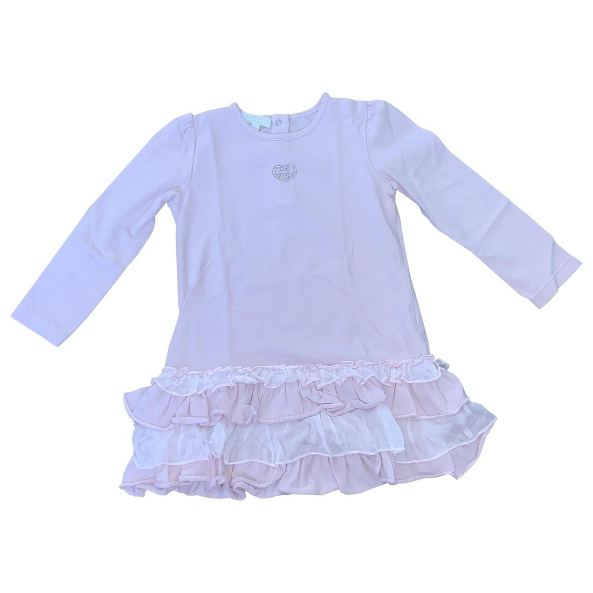 Gucci - Robe    pour enfant en coton - elasthane - rose
