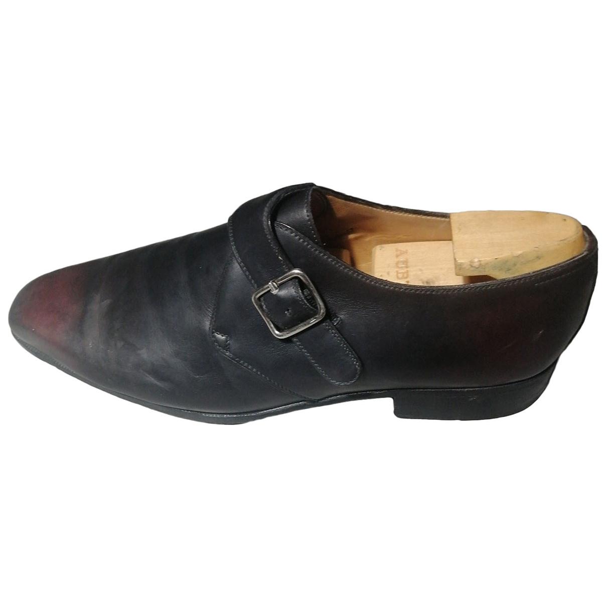 Aubercy - Derbies   pour homme en cuir - noir