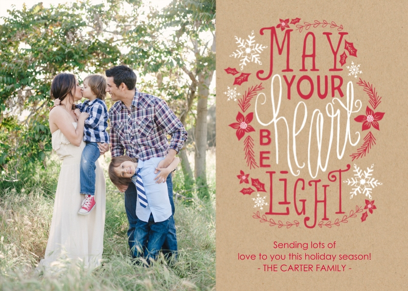 Christmas Photo Cards 5x7 Cards, Standard Cardstock 85lb, Card & Stationery -Light Hearted Wishes
