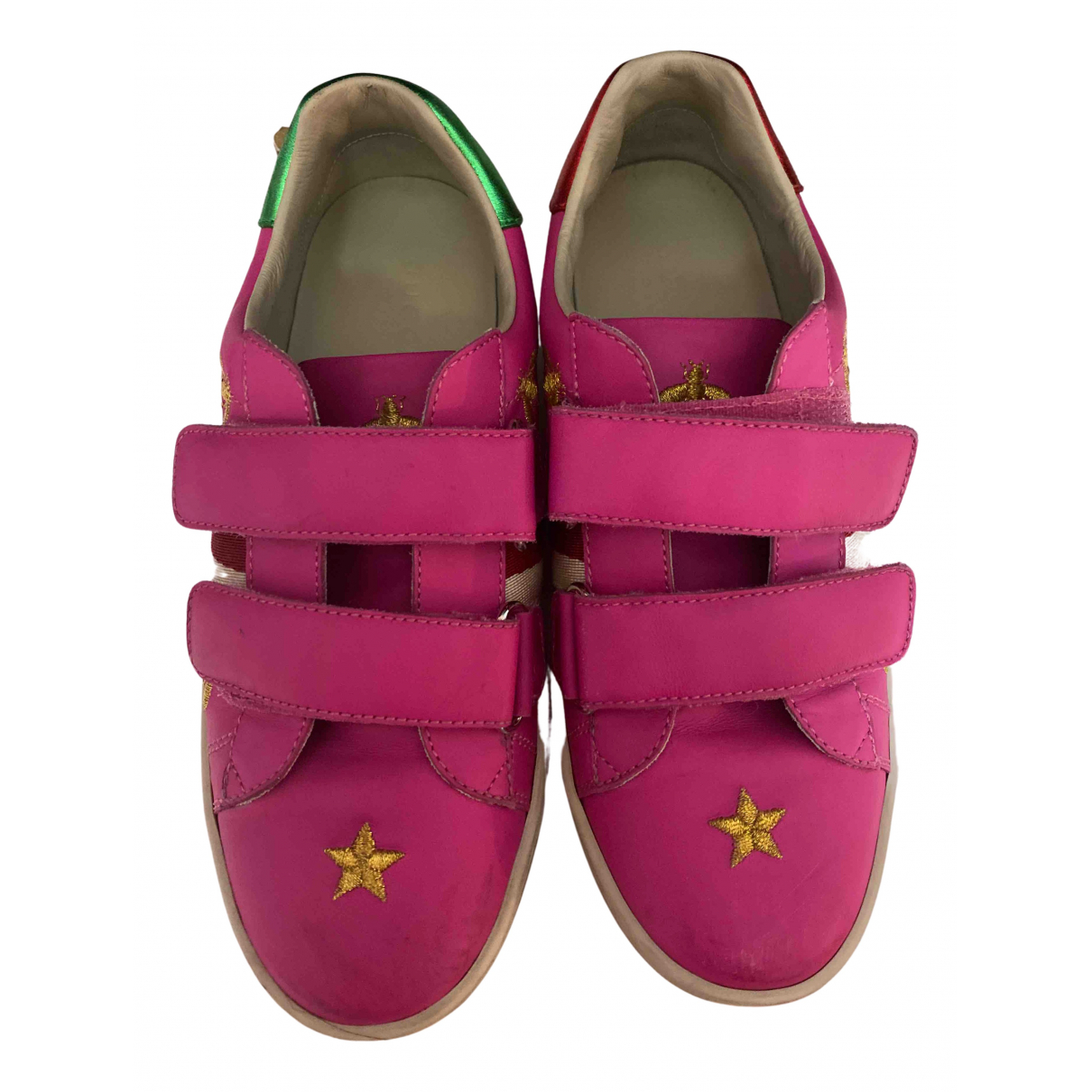 Gucci \N Sneakers in  Rosa Leder