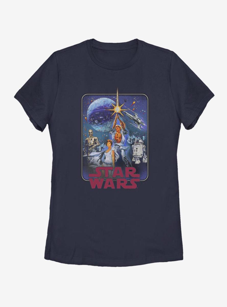 Star Wars Star Poster Redux Womens T-Shirt