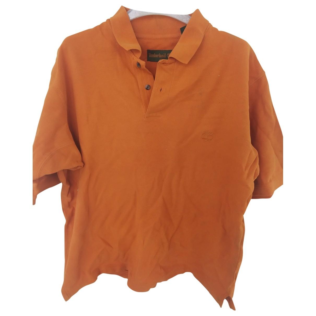 Timberland - Polos   pour homme en coton - orange