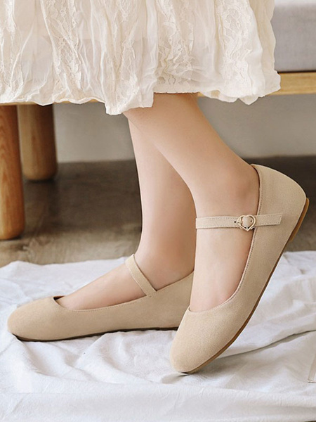 Milanoo Flat Lolita Footwear Round Toe Ankle Strap Lolita Pumps