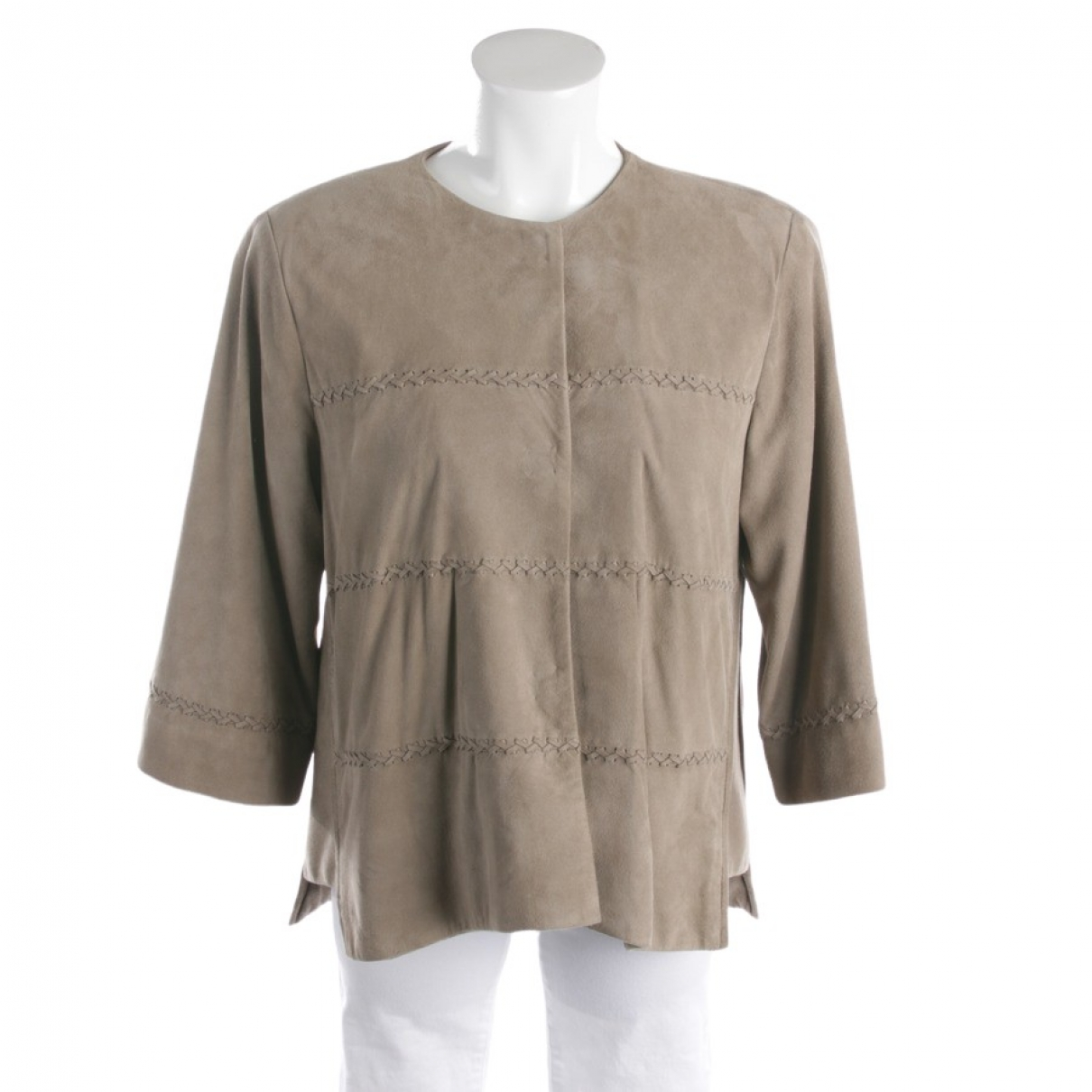 Autre Marque \N Brown Leather jacket for Women 38 FR