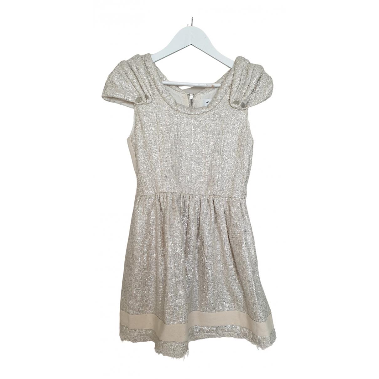Jc De Castelbajac \N Kleid in  Silber Baumwolle