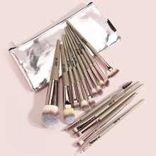15pcs Duo-fiber Makeup Brush Set