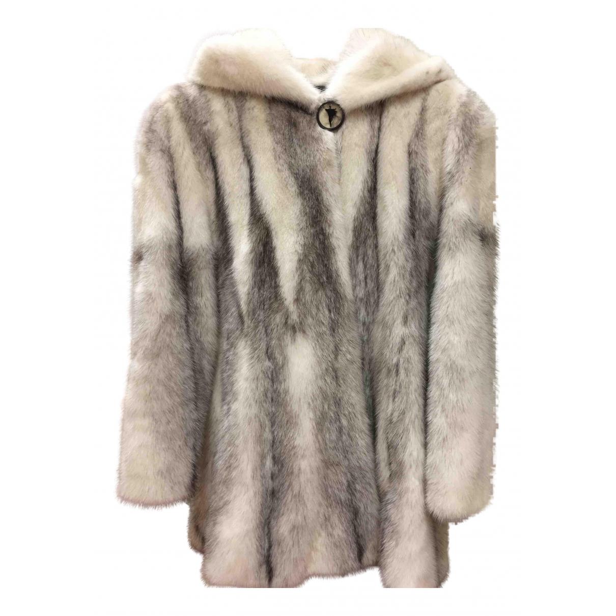 Saga Furs - Manteau   pour femme en vison - blanc