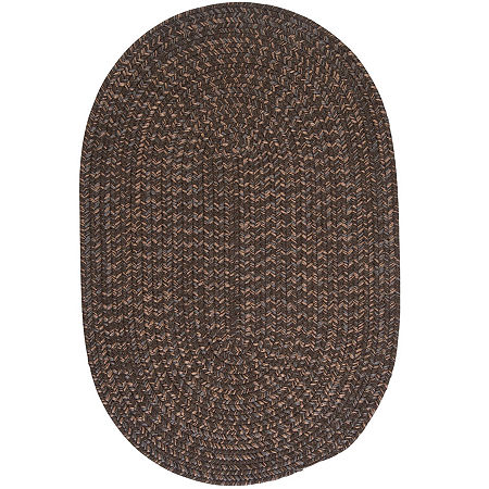 Colonial Mills Grafton Tweed Reversible Braided Oval Rug, One Size , Brown