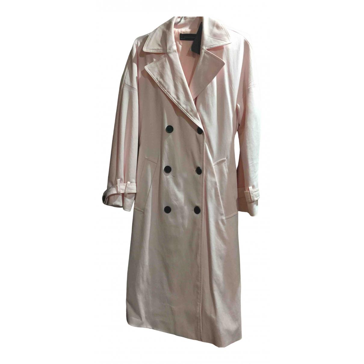 Zara - Trench   pour femme en coton - rose