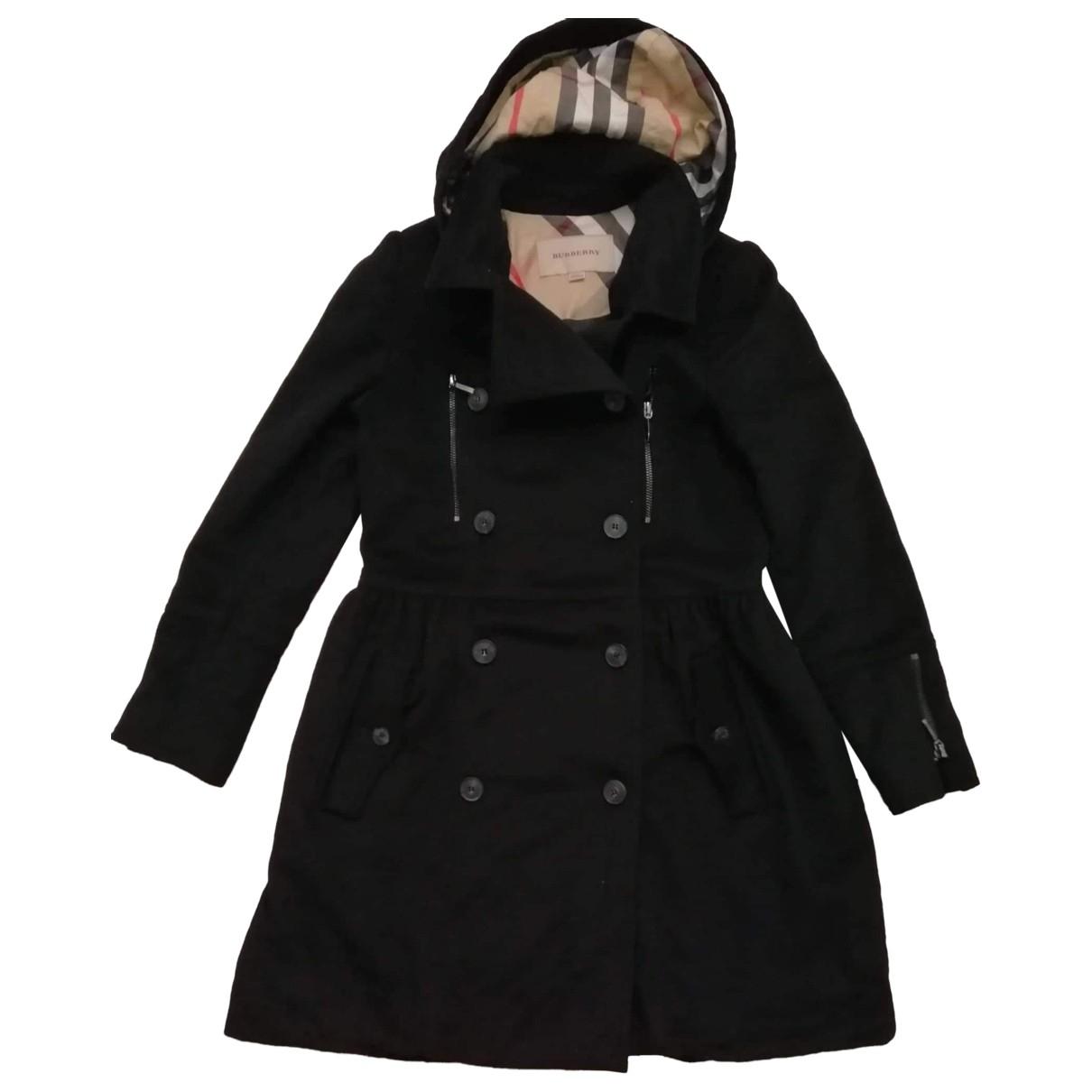 Burberry \N Black Wool jacket & coat for Kids 12 years - XS FR