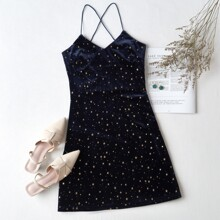 Velvet Galaxy Cami Dress