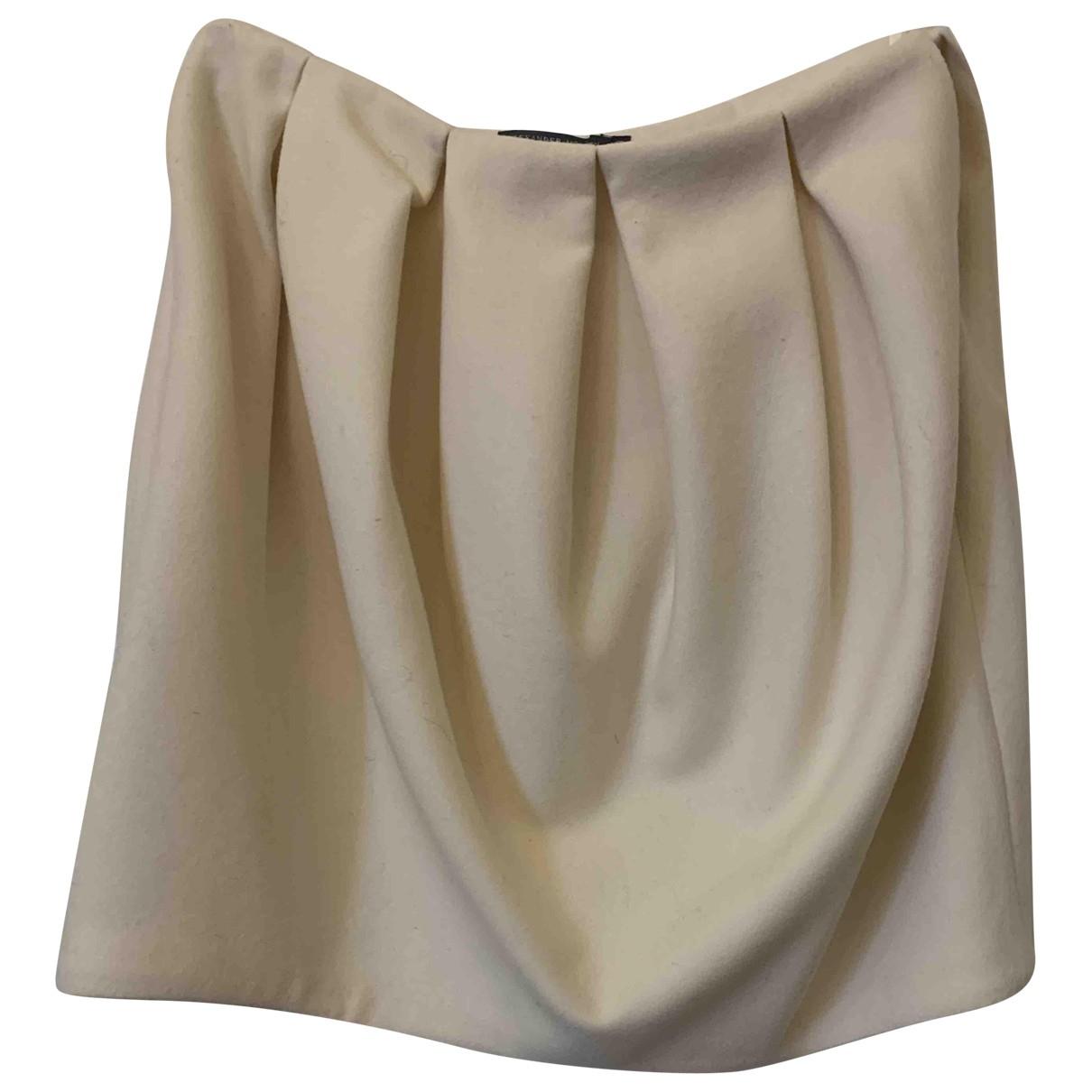 Alexander Mcqueen - Jupe   pour femme en laine - blanc