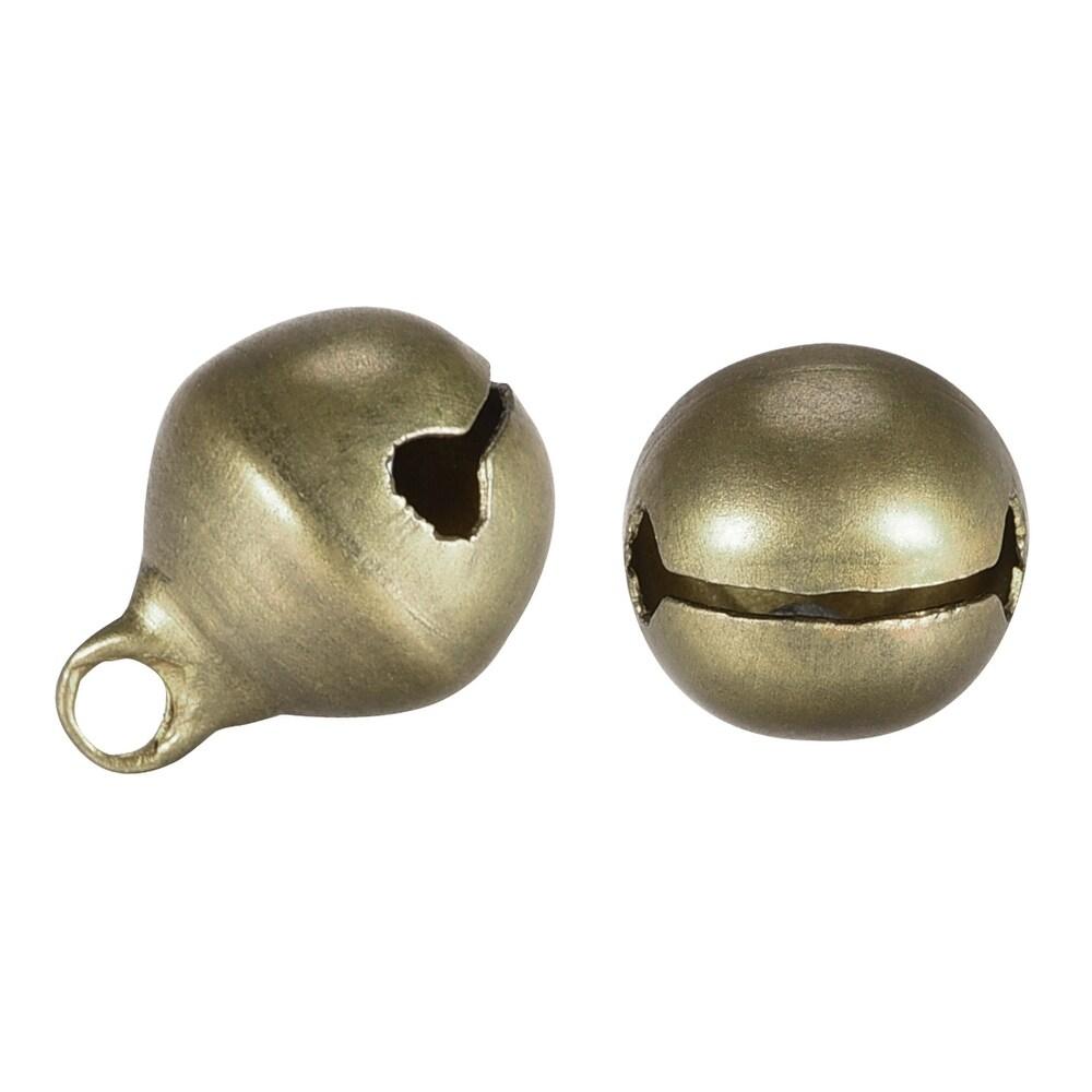 Jingle Bells, 0.4 Inch 50pcs, Craft Copper Bells Bulk DIY Bells - Bronze (Bronze)