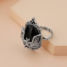 Halloween Ring mit Fledermaus Dekor