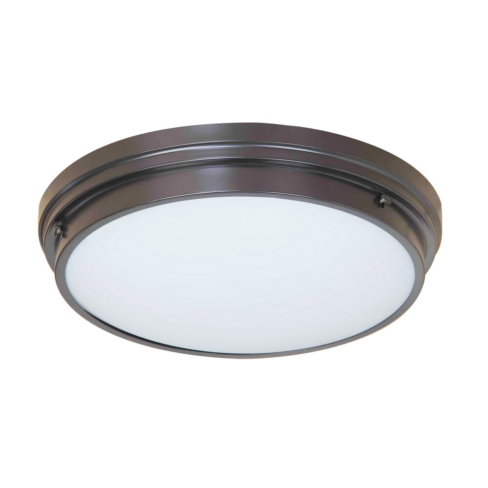 Matteo  X46302BZ Two Light Flush Mount FRESH COLONIAL Bronze - One Size (One Size - Clear)