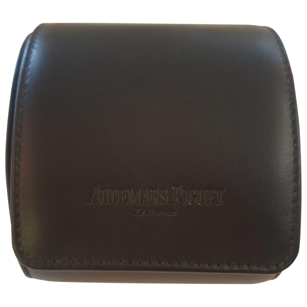 Audemars Piguet - Montre   pour homme en cuir - noir